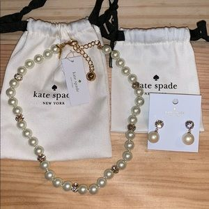 Kate Spade Lady Marmalade Necklace & Earring Set
